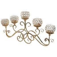 Ohome Tempat Lilin AN-CR042 Candle Holder Classic Kristal