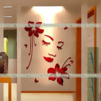 [globalbuy] Sexy girl lip eyes wall stickers living bedroom decoration diy home decals mua/3581718