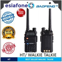 [esiafone #1 HT] BAOFENG Long Range Walkie Talkie Dual Band with LED BF UV-5R / Promo Buy 1 Get 2
