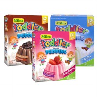 Milna Toddler Instant Pudding 12m+ Chocolate/Strawberry/Vanilla