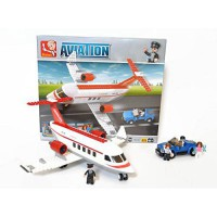 [macyskorea] Sluban Bricks Airport City Aviation Private Jet Airplane with Helicopter Set /11476783