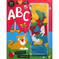 [HelloPanda] I Love Felt ABC Book - Fun Felt Activities for Imaginative Play with 300+ Felt Pieces