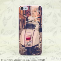 [globalbuy] 3756T Piaggio Vespa Scooter Road Italy Rome Hard Transparent Cover Case for ip/3494450