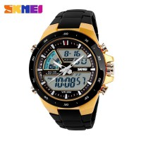 SKMEI Jam Tangan Digital Analog - AD1016 - Golden