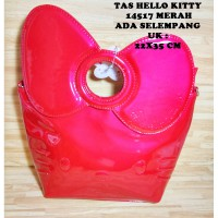 Tas Hello Kitty Dewasa 14517 Merah Ada Selempang Sanrio License Glossy