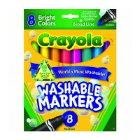 CRAYOLA Washable 8ct Broad Line Markers Bright 587819