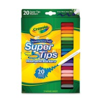 CRAYOLA 20ct Washable Super Tips Fine Line Markers 588106