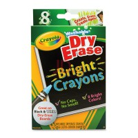 CRAYOLA Washable 8ct Dry Erase Crayons Brights 985202