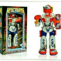 Mainan Robot Metal Fighter Light N Sound