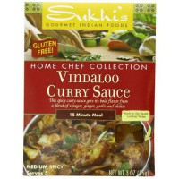 [poledit] Sukhi`s Gourmet Indian Foods Gluten-Free Vindaloo Curry Sauce, 3 Ounce (R1)/13482812