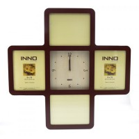 Innofoto (06474) Cross Clock 10x10 inchi Walnut
