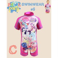 SWIMSUIT ANAK PINK MOTIF LITTLE PONY (RSBY-2334)