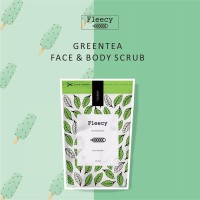 Fleecy Face n Body Scrub Green Tea - Fleecy GreenTea original SJ0002