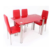 Best Dining Set Meja Makan 4559 - Merah