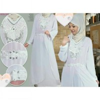 Long Dress Gamis Pesta Putih