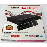 Set Top Box Ichiko DVB-T2/Hitam/Dekoder TV Digital dan Media Player- Garansi Resmi 1 Tahun
