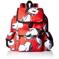 [macyskorea] LeSportsac X Peanuts Voyager Back pack, Snoopy Toss Red, One Size/14884886