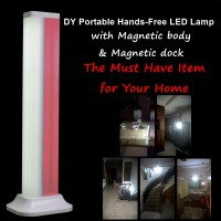 DY Portable lampu handfree SOS rumah mobil outdoor Led emergency (DY-YJ008O) - Rose Gold