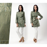 ACCENT - Tunic cotton green gold
