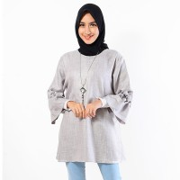 Jfashion Blouse Tangan Terumpet Simpel Elegan - Tammy