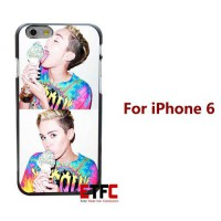 [globalbuy] Miley Cyrus collage Design for iPhone 6 6 Plus Hard Black Skin Case Cover/1937181