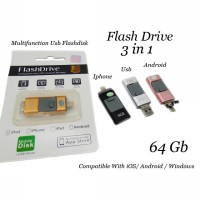 Flashdrive 64 Gb High Speed 3 In1 For Iphone/Android/Pc