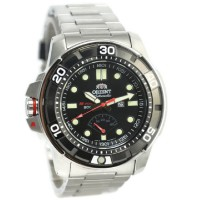 Orient Jam Tangan Pria Silver Hitam Stainless Steel SEL06001B M-Force
