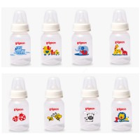 PIGEON BOTOL SLIM NECK UK 120ML MOTIF