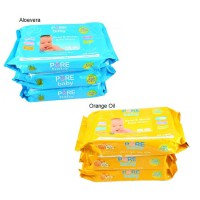 Pure Baby Hand & Mouth Wipes 60's Orange Oil / Aloevera Buy 2 Get 1 Free