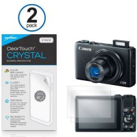 [worldbuyer] Canon Powershot S120 Screen Protector, BoxWave [ClearTouch Crystal (2-Pack)] /511107