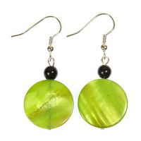 [macyskorea] ARThouse Limey Bright Lime Green Mother of Pearl Earrings Dangle 1.5 Inches/13204891