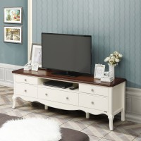 Baroque TV Cabinet 160 (Top Brown) - Meja TV