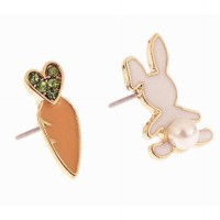 Anting Tusuk Korea Lucu Kelinci Wortel