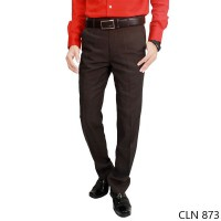 Men'S Suit Long Pants Trousers Katun Coklat Tua – CLN 873