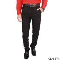 Mens Suit Trousers Katun Coklat Tua – CLN 871