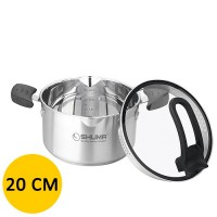 Panci Shuma Stainless Steel Dutch Oven Elena - 20 cm - 3.0 L - Silver