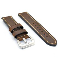 [poledit] SANWA 20mm Brown Watch Band Strap Italy Calf Leather Handmade Strap for iwatch a/14299430