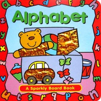 [HelloPandaBooks] Alphabet Sparkly Board Book with Sparkling Pictures