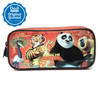 Pencil Case 1 Zipper Kungfu Panda 3 - PCKP151108 - Red Black