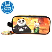 Pencil Case 2 zipper Kungfu Panda 3 - PCKP151507 - Orange Black
