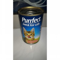 Purrfect tuna red meat in gravy with chicken and tuna liver 400gr