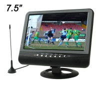 TV Analog TFT LCD 7.5 inch Wide View Angle - Black