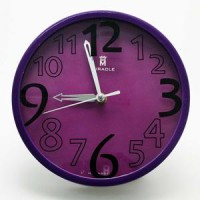 Jam Dinding Miracle Wr01 Purple