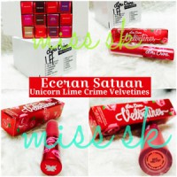 [ Ecer Satuan ] UNICORN VELVETINES LIME CRIME LIQUID Stick Super matte