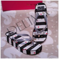 Delima Sandal Wedges Kate Spade Black-White Stripe