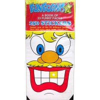 [HelloPandaBooks] Funforms #2 A Book of 23 Funny Faces with 250 Stickers (Red)