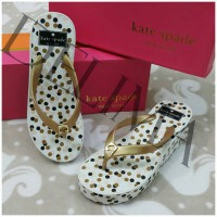 Delima Sandal Wedges Kate Spade Golden Rubber