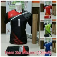 seragam team set voli mizuno isi 12pcs