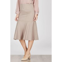 Helena Frill Skirt Brown