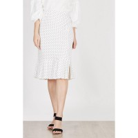 Ilana Off White Polka Skirt